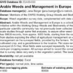 Arable Weeds and Management in Europe