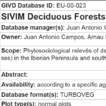 SIVIM Deciduous Forests – Database o ...